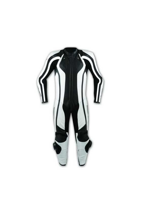 A-Pro Lightning Leather Motorcycle Suit 1-Piece White