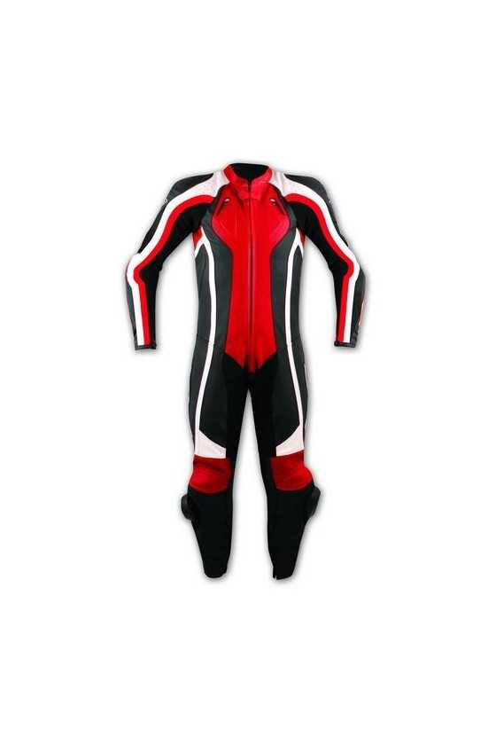 A-Pro Lightning Tuta Moto Pelle Intera Red