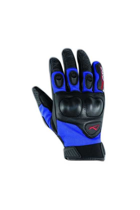 Leather Gloves A-Pro Block Blue