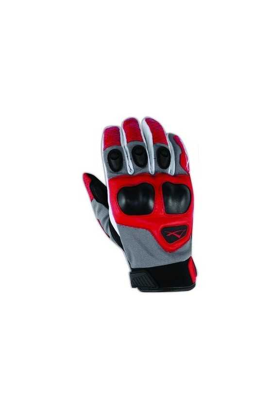 Leather Gloves A-Pro Block Grey-Red