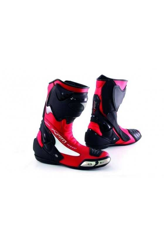 A-Pro Fighting Red Race Motorcycle Boots