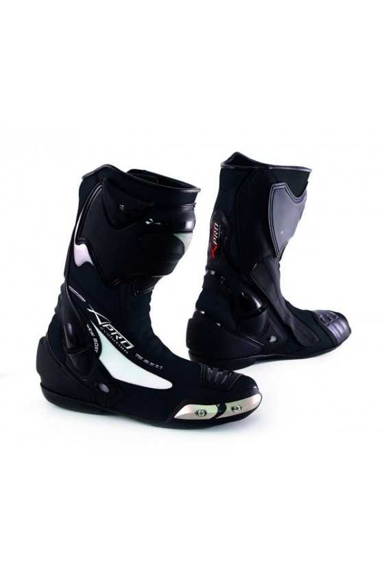 A-Pro Fighting Black Race Motorcycle Boots