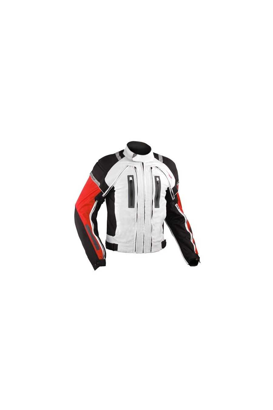 A-Pro Areotech White-Red Giacca Moto Touring