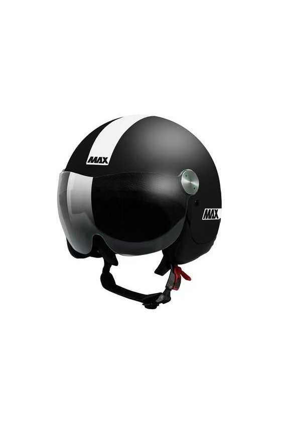 New Max Casco Moto Jet Roadie Matt Black