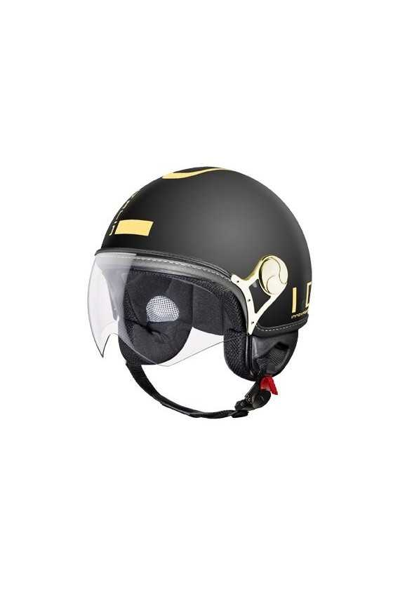IDI Casco Moto Jet ZeroTre Matt Black-Gold