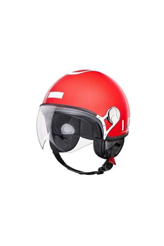 IDI Casco Moto Jet ZeroTre Red-White