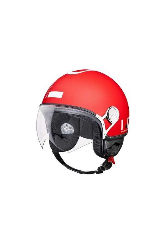 IDI Casco Moto Jet ZeroTre Matt Red-White