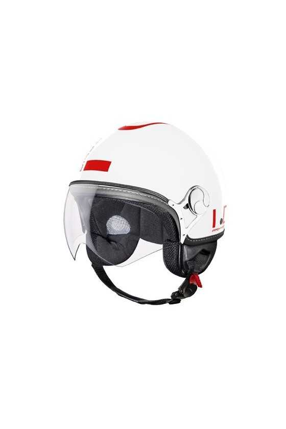 IDI Casco Moto Jet ZeroTre White-Red