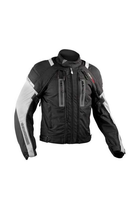 A-Pro Areotech Black-Grey Giacca Moto Touring