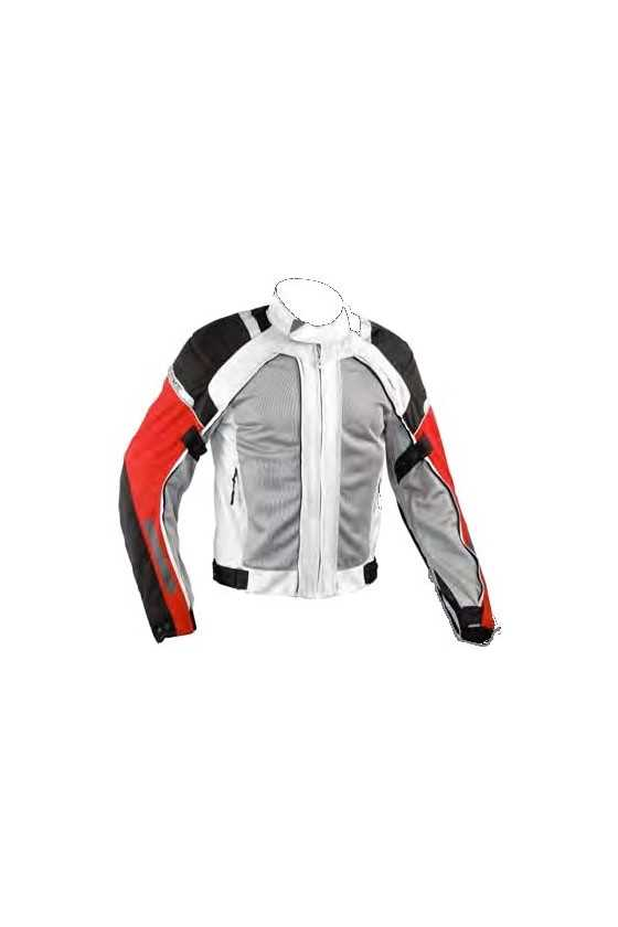 A-Pro Areotech Black-Grey Touring Motorcycle Jacket