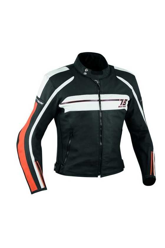 A-Pro Sbk Orange Giubbotto Moto Pelle
