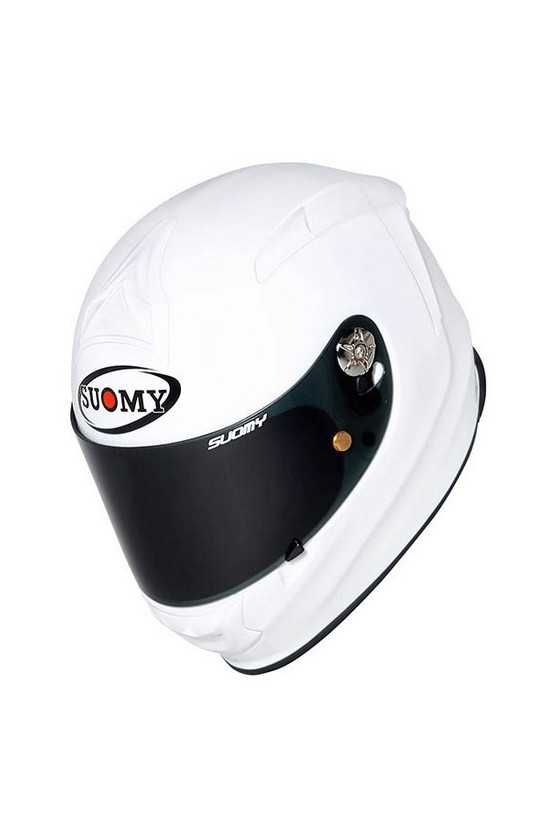 Suomy Sr Sport Plain White Casco Moto Integrale