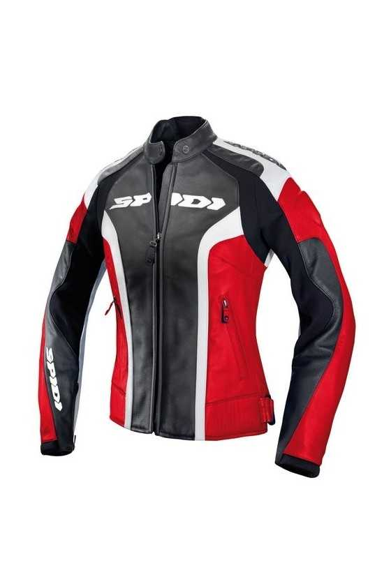 Spidi RR Leather Lady Red Women Motorcycle Jacket