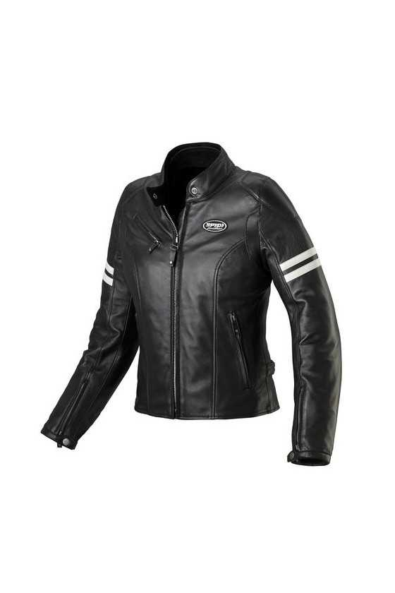 Spidi Ace Leather Lady White Giacca Moto Pelle Donna