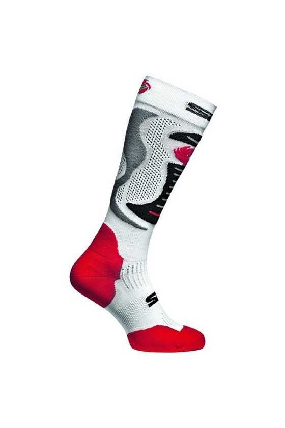 Calze Moto Sidi Faenza Socks White-Red