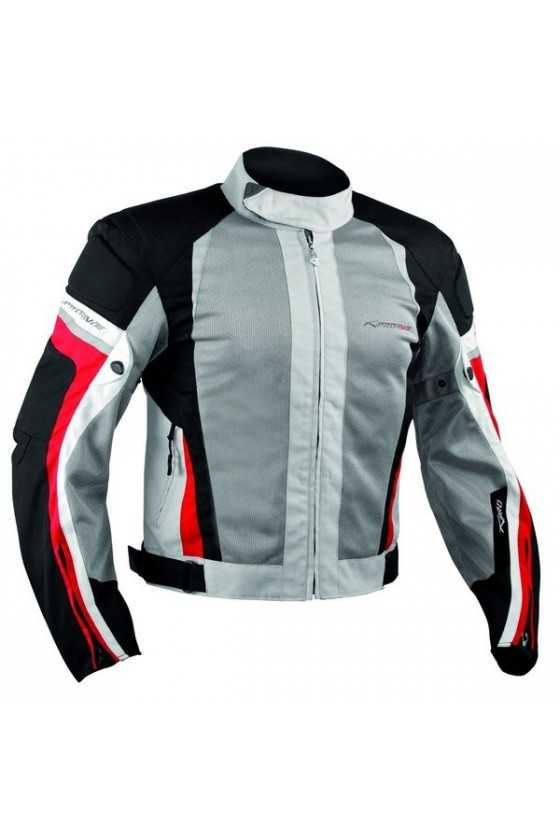 Giubbotto Moto Estivo A-Pro Eolo Grey Red