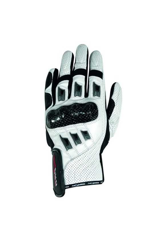 A-Pro Bionic White Summer Leather Motorcycle Gloves