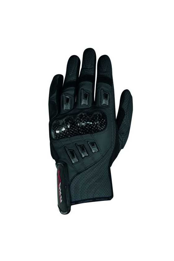 A-Pro Bionic Black Summer Leather Motorcycle Gloves