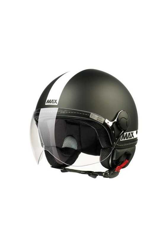 Casco Moto Jet Max Power Matt Black