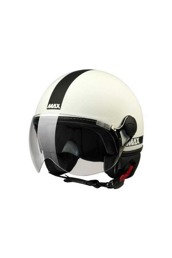 Casco Moto Jet Max Power Matt White