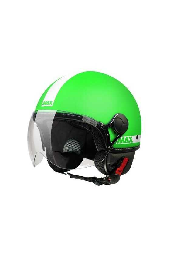 Casco Moto Jet Max Power Fluo Matt Green