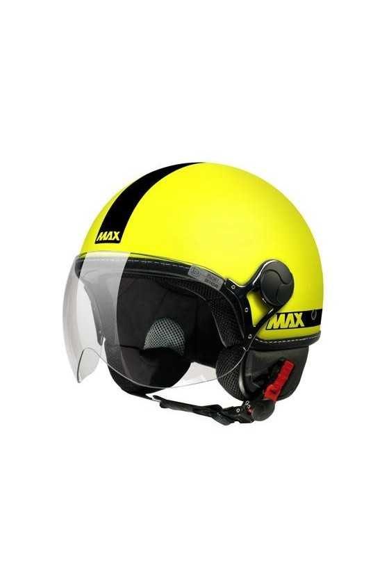Casco Moto Jet Max Power Fluo Matt Yellow