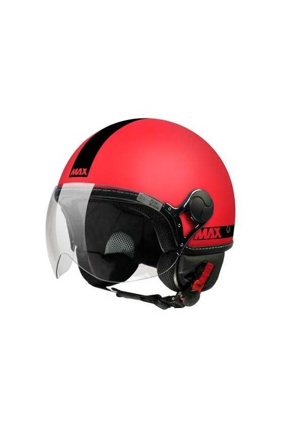 Casco Moto Jet Max Power Fluo Matt Coral