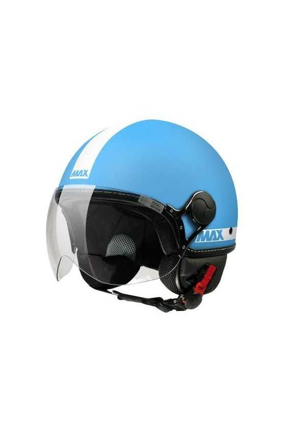 Casco Moto Jet Max Power Matt Turquoise