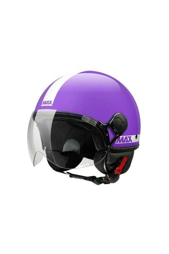 Casco Moto Jet Max Power Shiny Pearl Violet
