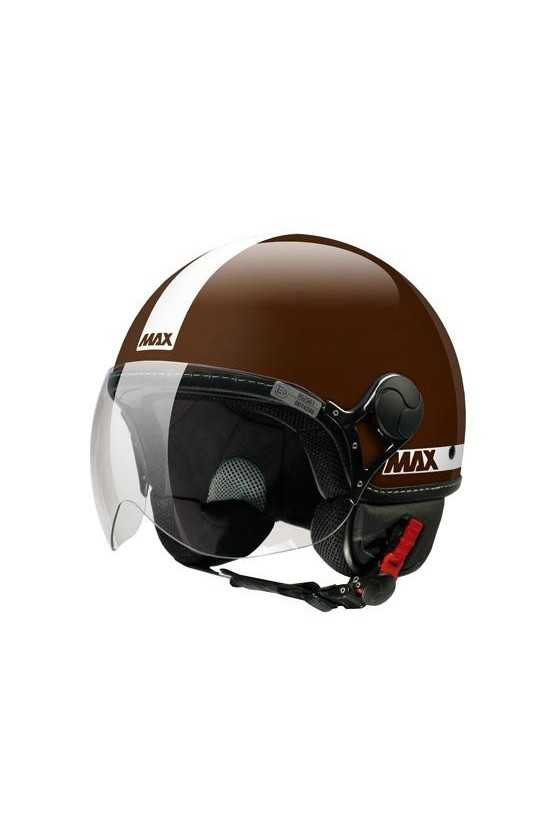 Casco Moto Jet Max Power Shiny Brown