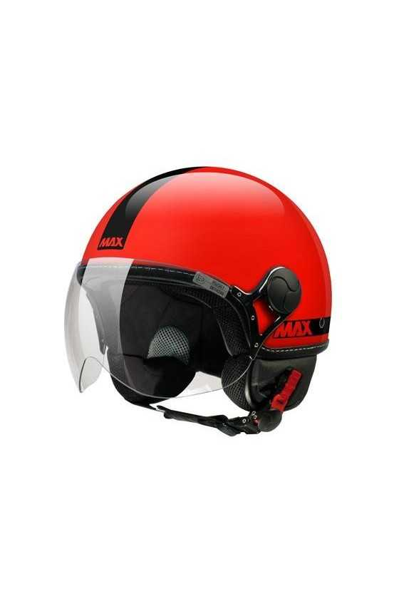 Casco Moto Jet Max Power Shiny Red
