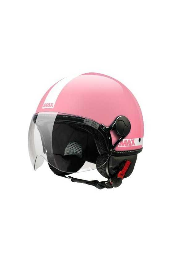 Casco Moto Jet Max Power Shiny Pink