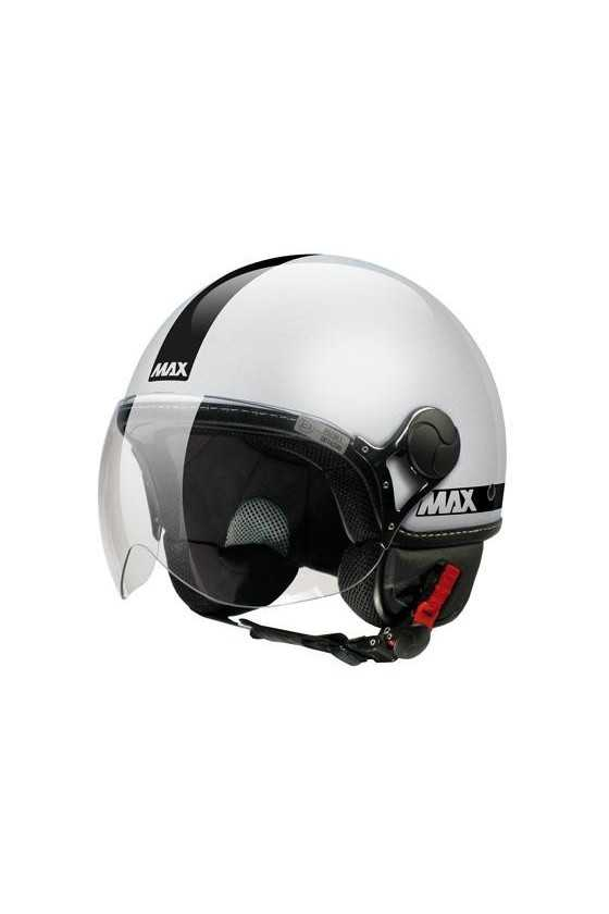 Casco Moto Jet Max Power Shiny Silver