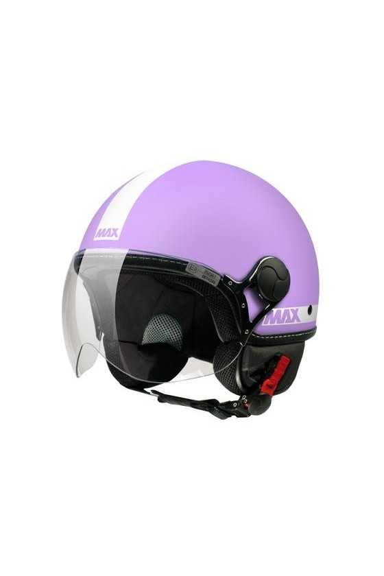 Casco Moto Jet Max Power Matt Cyclamen