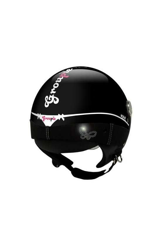Casco Moto Donna Jet Max Groupie Shiny Black