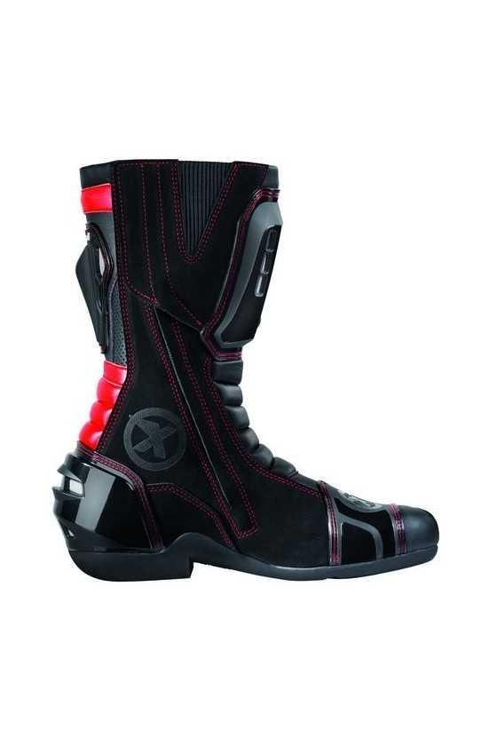 XPD XP3-S Race Motorcycle Boots Red   Black/Red