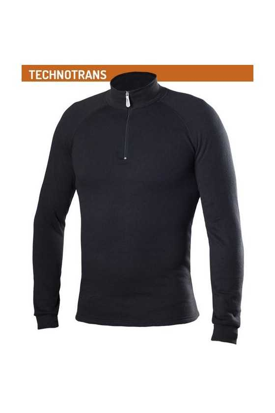 Lupetto Zip Termico Biotex Turtleneck Technotrans Black
