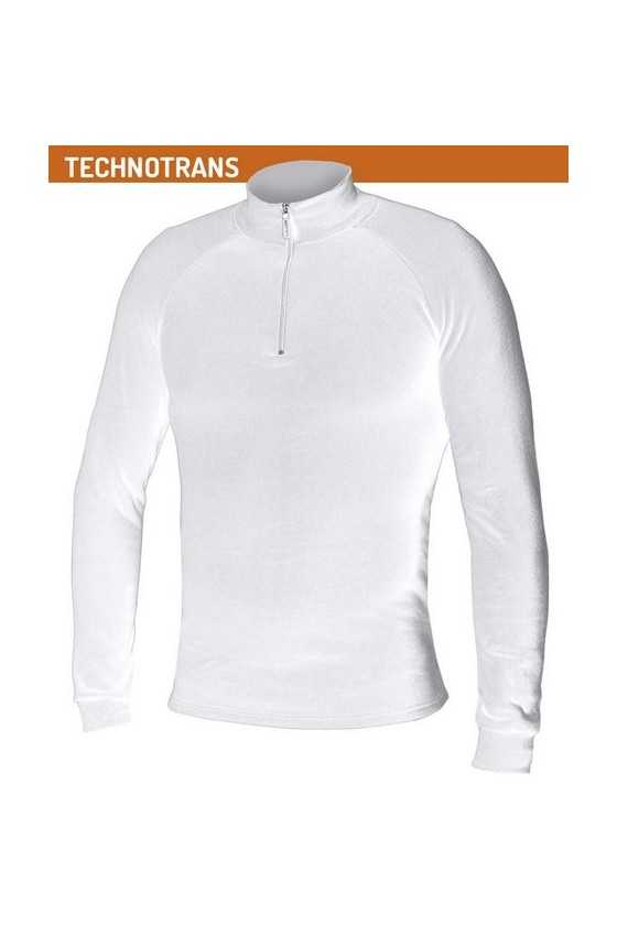 Lupetto Zip Termico Biotex Turtleneck Technotrans White