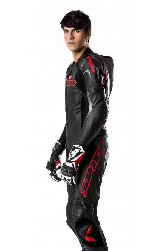 Spidi Supersport Wind Pro 1Pc Leather Motorcycle Suit Black-Red