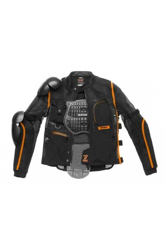 Giubbotto Moto Estivo Spidi MultiTech Armor Evo Orange-Black
