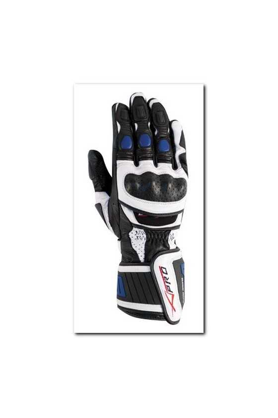 Leather Gloves A-Pro Cobra White Blue
