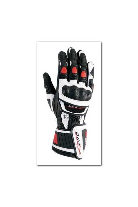 Leather Gloves A-Pro Cobra White Red