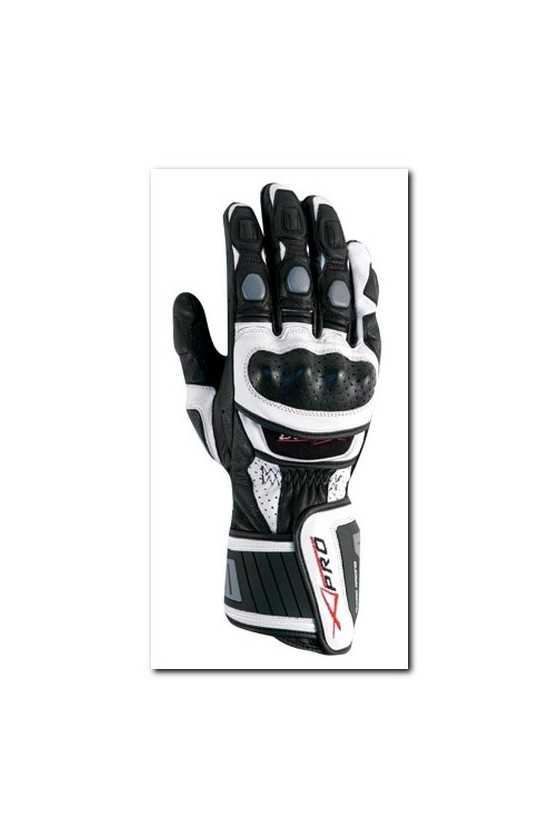 Leather Gloves A-Pro Cobra White Grey