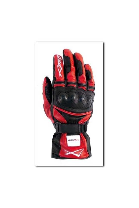 Leather Gloves A-Pro Precision Black Red