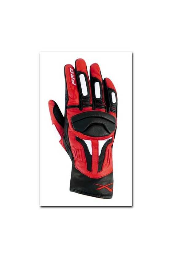 Leather Gloves A-Pro Fire Power Black Red