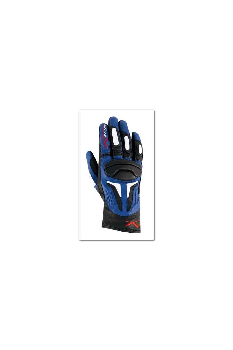 Guanto Moto A-Pro Fire Power Black Blue
