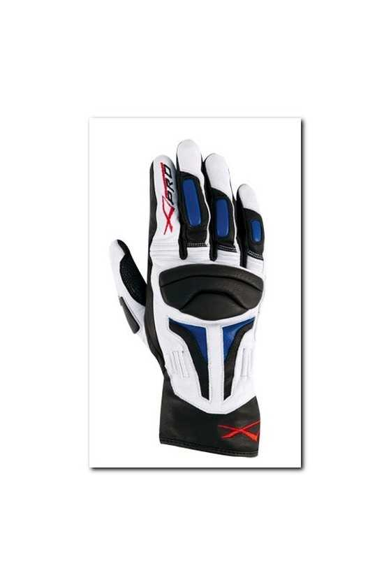 Guanto Moto A-Pro Fire Power White Blue