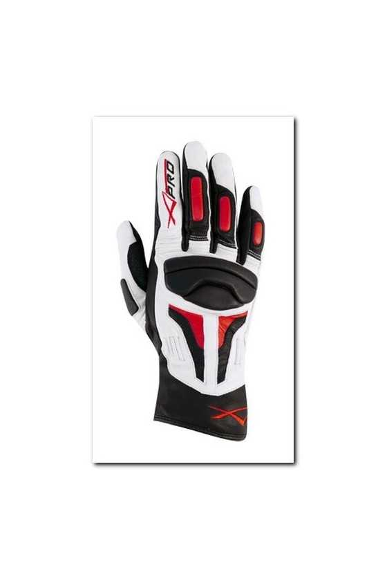 Leather Gloves A-Pro Fire Power White Red