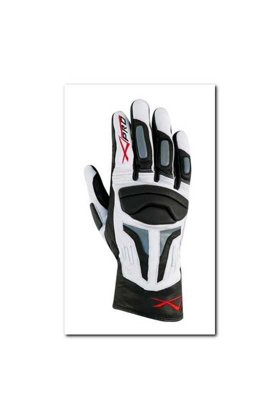 Leather Gloves A-Pro Fire Power White Grey