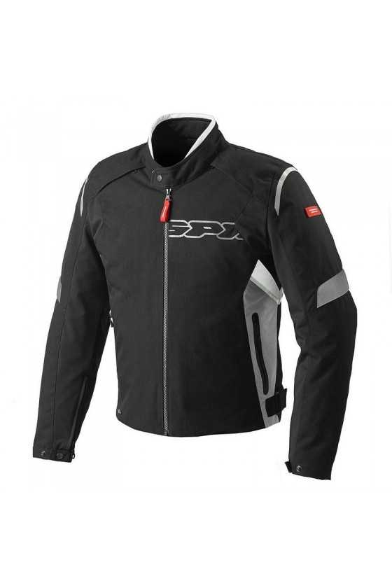 Spidi Flash Tex Motorcycle Jacket Black-Grey